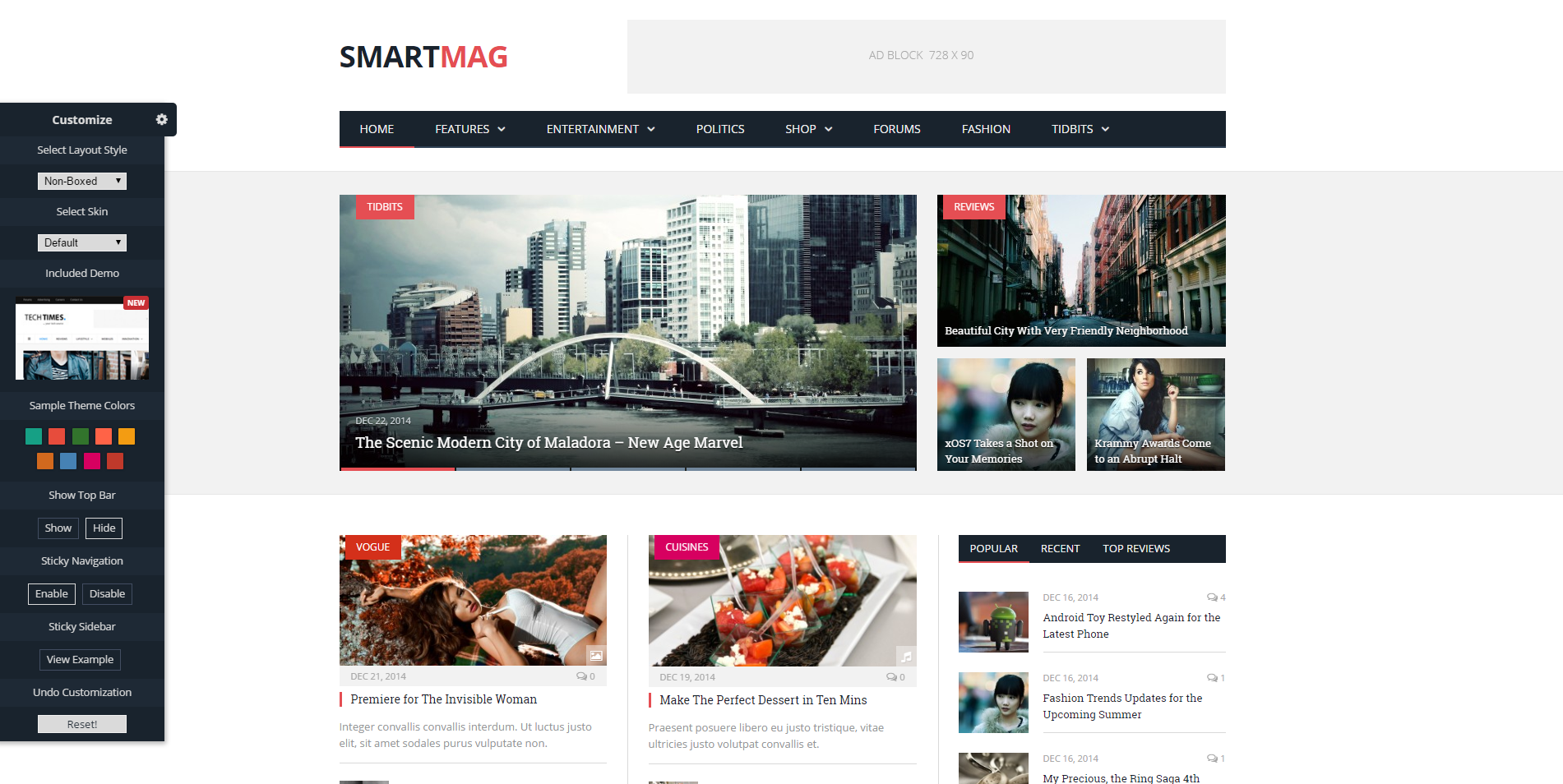 smartmag theme