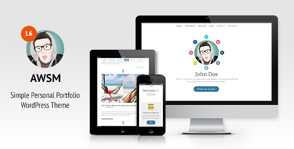 AWSM-Simple-Personal-Portfolio-WordPress-Theme - WPion