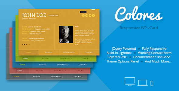 Colores-Responsive-Wordpress-vCard - WPion