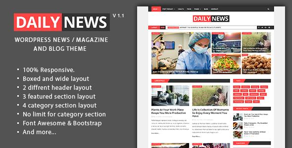 Daily-News-WordPress-News-Magazine-And-Blog-Theme - WPion
