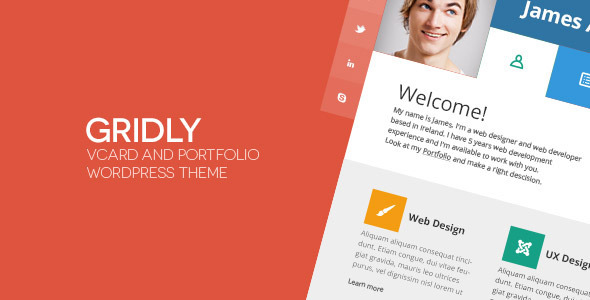 Gridly-vCard-Personal-Portfolio-WordPress-Theme - WPion
