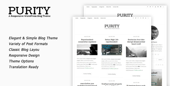 Purity-Clean-Minimal-Blog-WordPress-Theme - WPion
