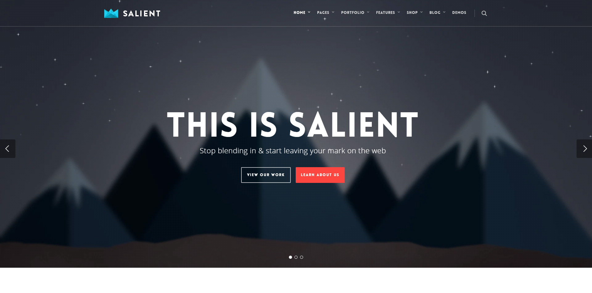 WPion Review: The Salient Multipurpose WordPress Template