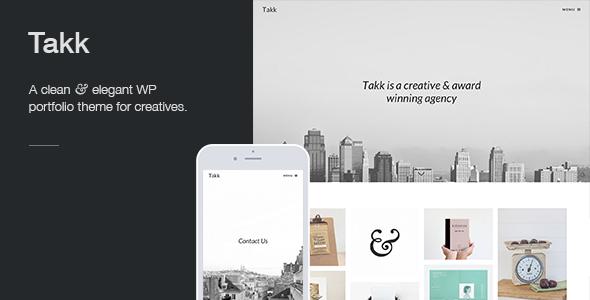 Takk A Clean And Responsive Wordpress Portfolio Theme With A