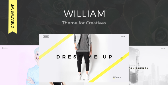 william creative portfolio theme wpion