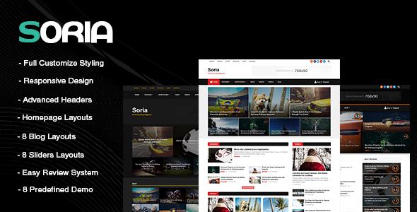 Soria-Responsive-WordPress-Blog-Magazine-Template - WPion