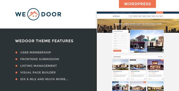 Wedoor-Real-Estate-User-Membership-IDX-Theme - WPion