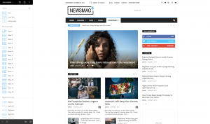 Newsmag - Drag and Drop Elements