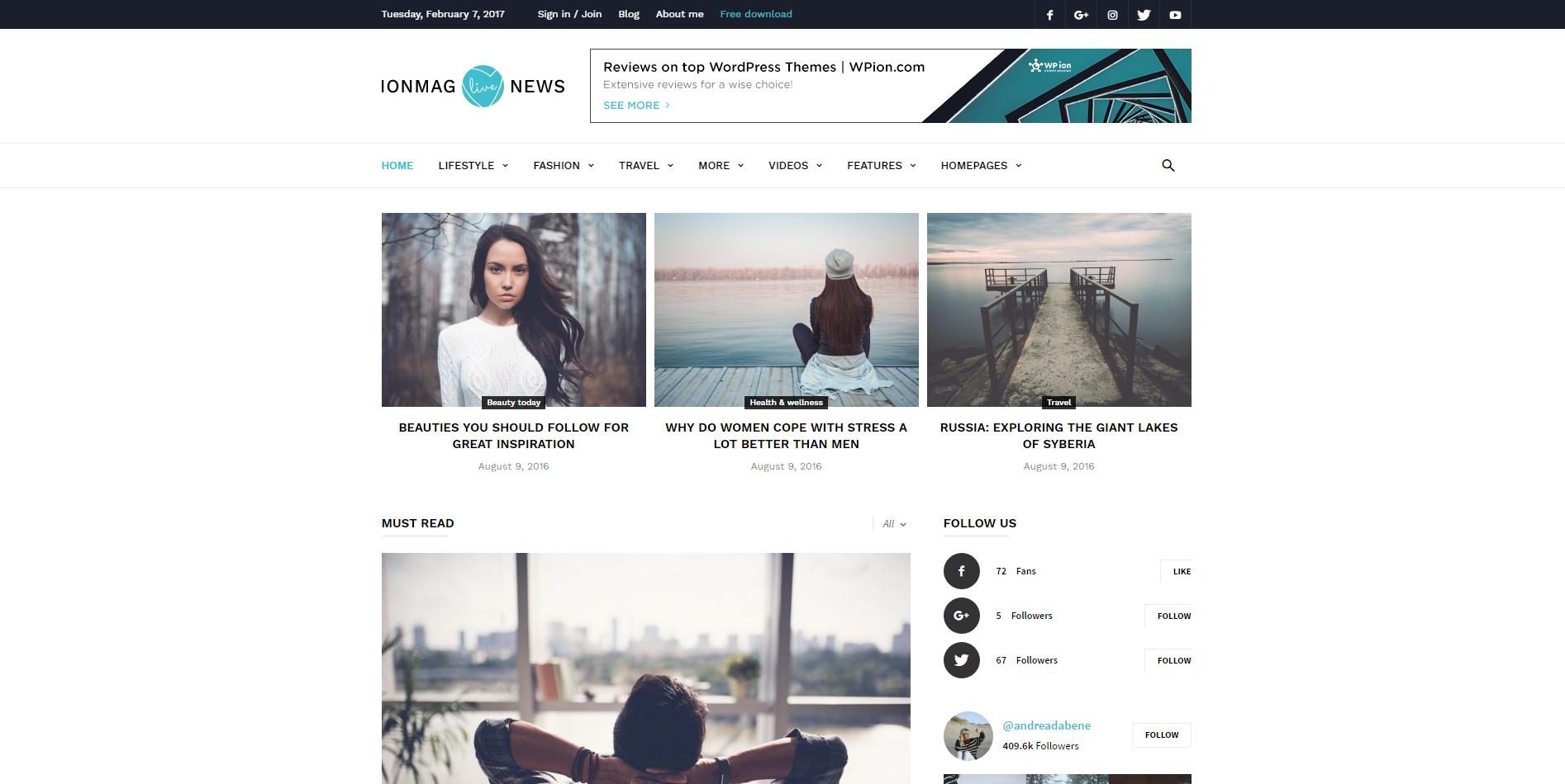 ionMag Free News and Magazine WordPress Theme