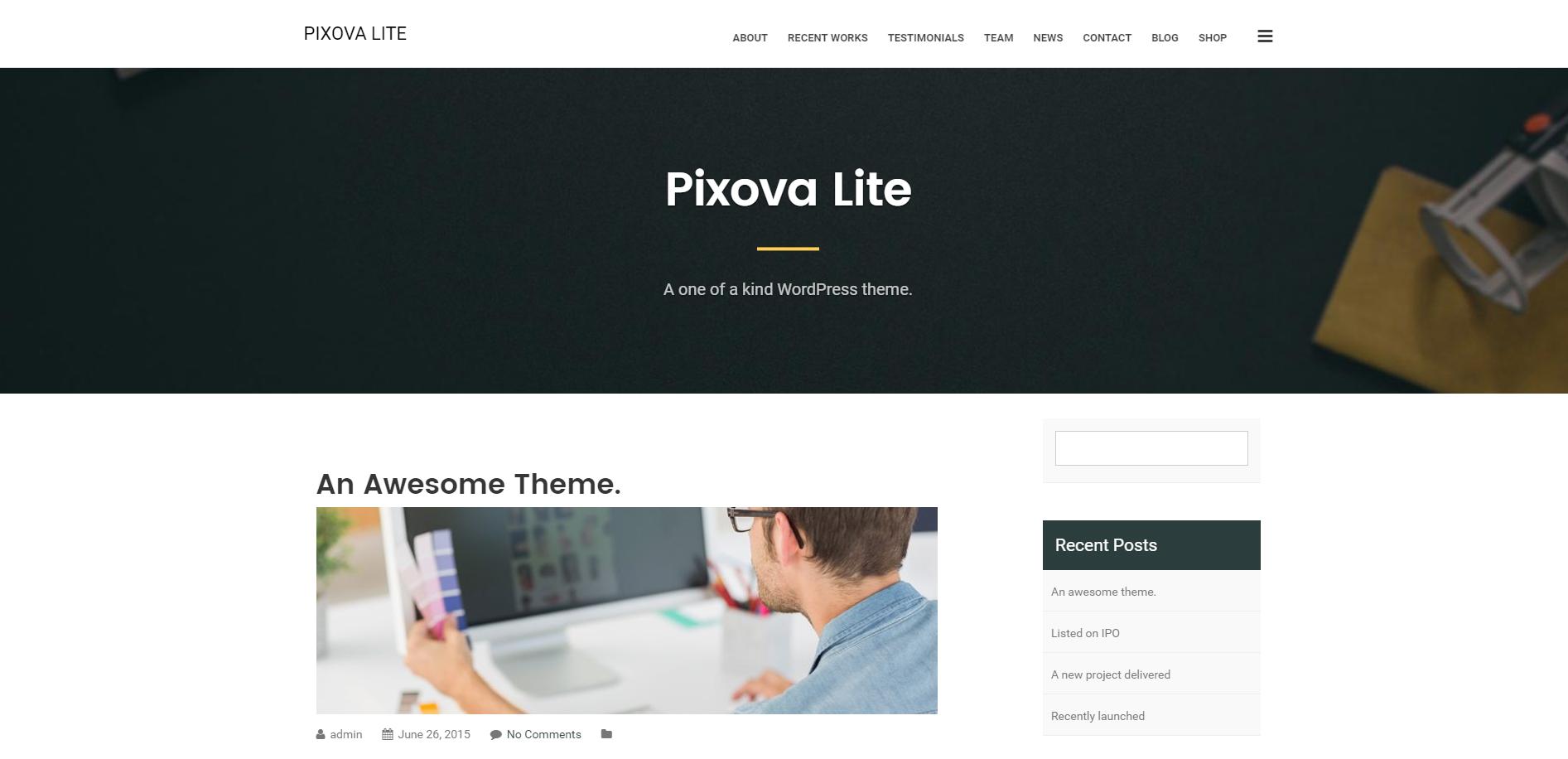 wordpress free blog themes