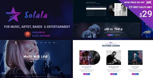 Solala-Music-WP-Music-WordPress-Theme-Artist-Band-Concert-Audio ...