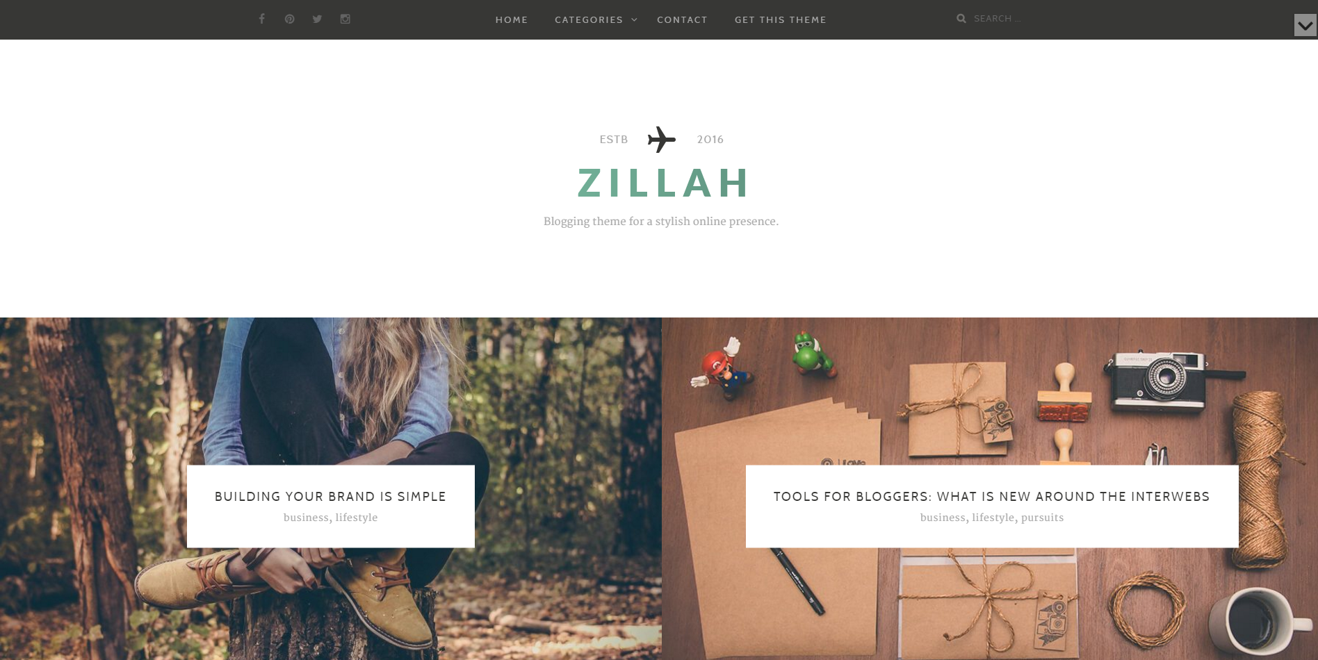 Zillah-free-blog-wordpress-theme