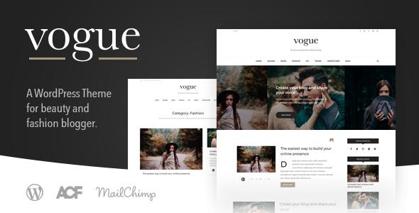 Vogue Cd A Fashion Lifestyle Blog Theme For Wordpress Wpion