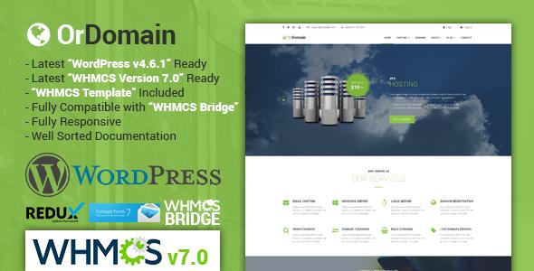 OrDomain   Responsive WHMCS Hosting WordPress Theme - WPion