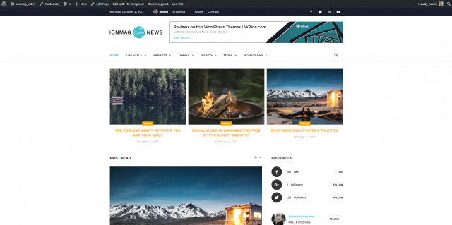 ionMag News Theme