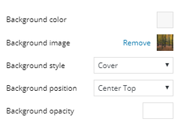 Background Style Choices
