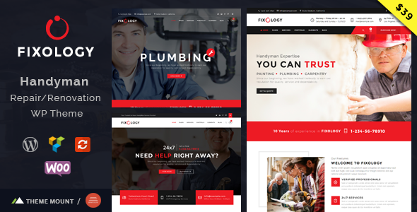 Fixology   Handyman Multi-Service WordPress Theme - WPion