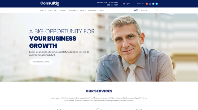 Top 26 best business and corporate wordpress themes for startups with consultix a business wordpress template created by radiantthemes you can build any corporate or consulting website it comes with 14 beautiful home cheaphphosting Images